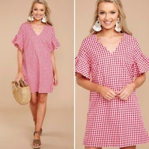 Red Dress Boutique A Classic Moment Gingham Dress